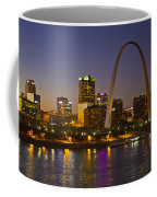 St Louis Skyline From Poplar Street Bridge Coffee Mug