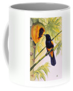 St. Lucia Oriole And Papaya Coffee Mug