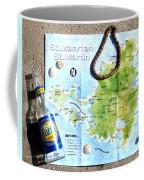 St. Martin St. Maarten Map Coffee Mug