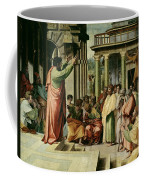 St. Paul Preaching At Athens  Coffee Mug by Raphael