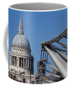 St Pauls Cathedral And The Millenium Bridge  Coffee Mug