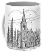 St Pauls Lutheran Church Red Hook Ny Coffee Mug by Richard Wambach
