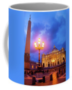 St. Peters Cathedral At Night Coffee Mug