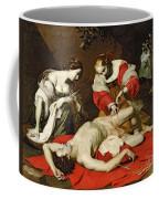 St Sebastian Tended By The Holy Irene Coffee Mug