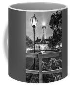 St. Simons Lighthouse Black And White Coffee Mug