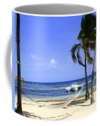 St Thomas Beach Hamocks And Boats Iggys Coffee Mug