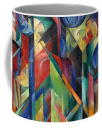 Stables By Franz Marc Bright Painting Of Horses In A Stable Coffee Mug