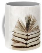Stack Of Open Books Coffee Mug