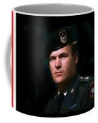Staff Sergeant Barry Sadler In Uniform R.i.p. Circa 1965-2016 Coffee Mug