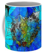 Stained Glass Blue Poppy One Coffee Mug