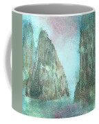 Stained Glass Mountain Temple Coffee Mug