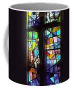 Stained Glass With Crucifix Silhouette Coffee Mug