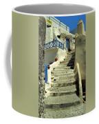 Stairway In Santorini Coffee Mug