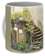 Stairway With Flowers Flavigny France Coffee Mug
