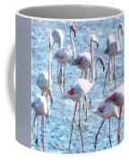 Stand Out In The Crowd Flamingo Watercolor Coffee Mug