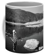 Standing In Comanche Reservoir Coffee Mug
