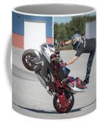 Standing On One Leg Riding Wheelie Coffee Mug