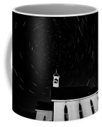 Star Tracks Over Saint Columba Anglican Country Church Coffee Mug