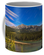 Star Trails Above The Front Ranges Coffee Mug