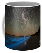 Star Trails And Bioluminescence Coffee Mug by Philip Hart
