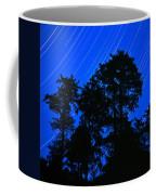 Star Trails Behind Ruby Beach Tree Group Coffee Mug