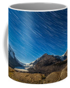 Star Trails Over Columbia Icefields Coffee Mug
