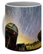 Star Trails Over Custer Observatory Coffee Mug