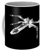 Star Wars T-65 X-wing Starfighter White Ink Tee Coffee Mug