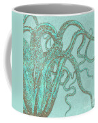 Stardust Tentacles, Aqua Watercolor Octopus Coated With Stardust Coffee Mug