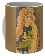 Starfire With Beast Boy In The Form Of A Ermine Coffee Mug