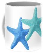 Starfish Blue And Turquoise On White Coffee Mug