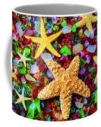 Starfish On Sea Glass Coffee Mug