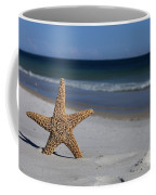 Starfish Standing On The Beach Coffee Mug