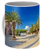 Stari Grad On Hvar Island Palm Waterfront Coffee Mug