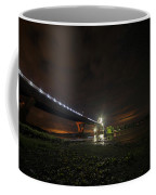 Starry Sky Over The New York To Vermont Bridge Lake Champlain Coffee Mug