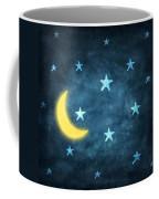 Stars And Moon Drawing With Chalk Coffee Mug