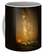 Stars Over Fishing Boat Coffee Mug