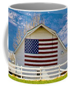 Stars Stripes And Barns Coffee Mug