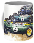 1963 Start British Gp  - Lotus  Brabham  Brm  Brabham Coffee Mug