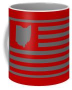 State Of Ohio - American Flag Coffee Mug