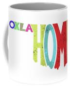 State Of Oklahoma Typography Coffee Mug