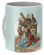 Station Ix Jesus Falls Under The Cross The Third Time Coffee Mug