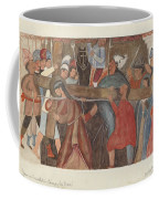 """Station Of The Cross No. 5: """"jesus Is Assisted In Carrying His Cross Coffee Mug"""