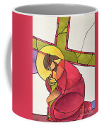 Stations Of The Cross - 03 Jesus Falls The First Time - Mmjff Coffee Mug
