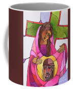 Stations Of The Cross - 06 St. Veronica Wipes The Face Of Jesus - Mmvew Coffee Mug