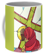 Stations Of The Cross - 07 Jesus Falls A Second Time - Mmjti Coffee Mug