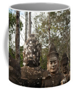 Statue Heads Ankor Thom Coffee Mug