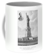 Statue Of Liberty And Bartholdi Portrait Coffee Mug by War Is Hell Store