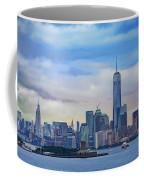 Statue Of Liberty And Manhattan Coffee Mug