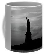 Statue Of Liberty, Silhouette Coffee Mug